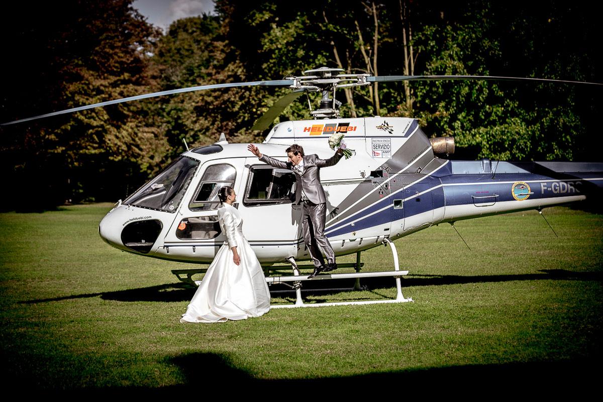 elicottero per matrimoni lecco