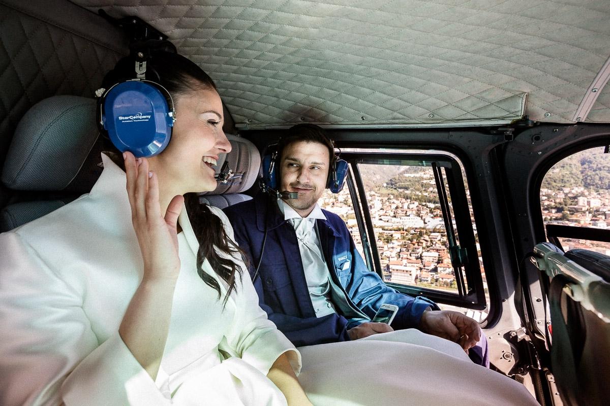 fotografie matrimonio villa orsini in elicottero