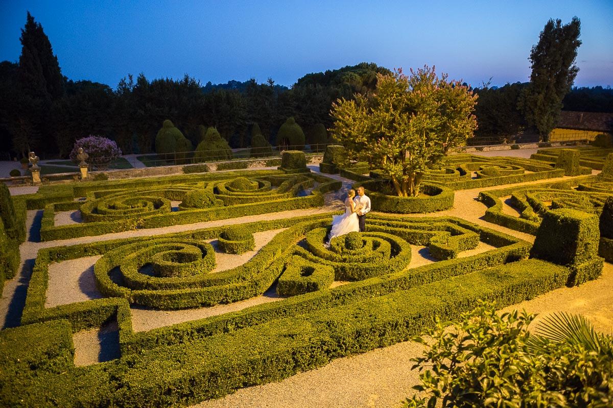villa orsini colonna giardino di sera